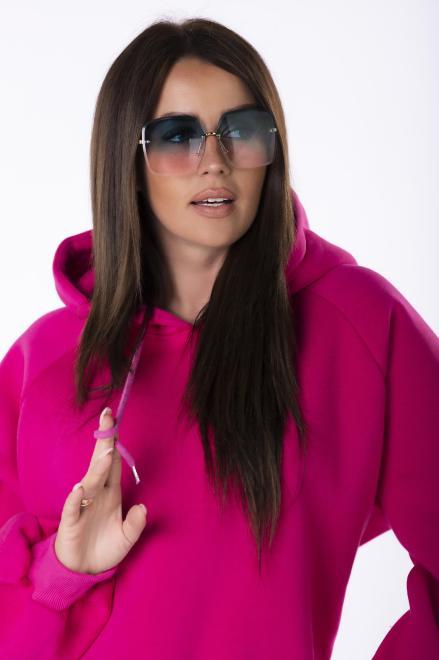 EX MODA  bluza oversize z kapturem M84971 Блуза Розовый оптом