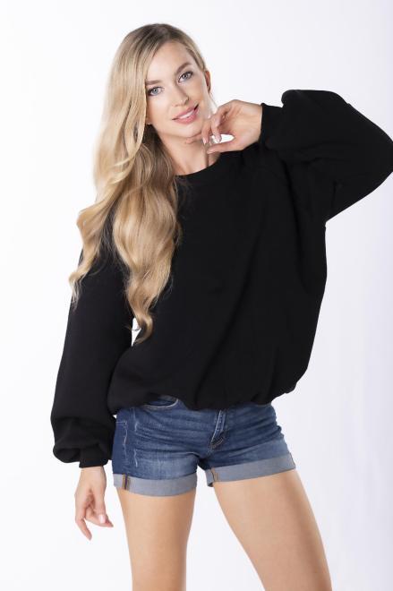 EX MODA  bluza oversize M84959 Блуза черный оптом