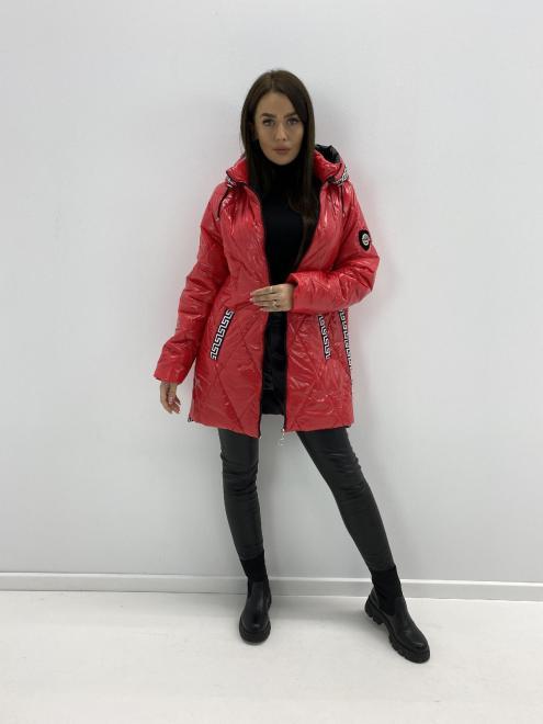 HOLI  pikowana kurtka z lampasami M85334 Куртка красный оптом