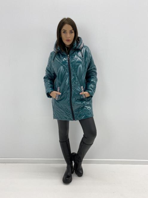 HOLI  pikowana kurtka z lampasami M85334 Куртка зеленый оптом