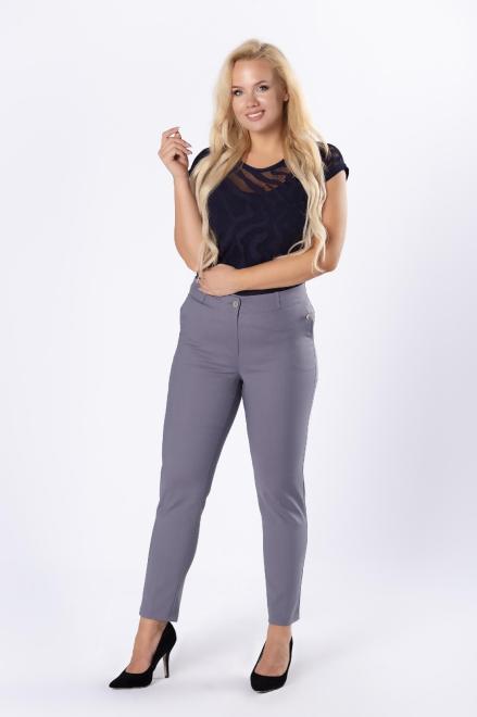LENA  klasyczne spodnie cygaretki M81186 Брюки +Size Серый оптом