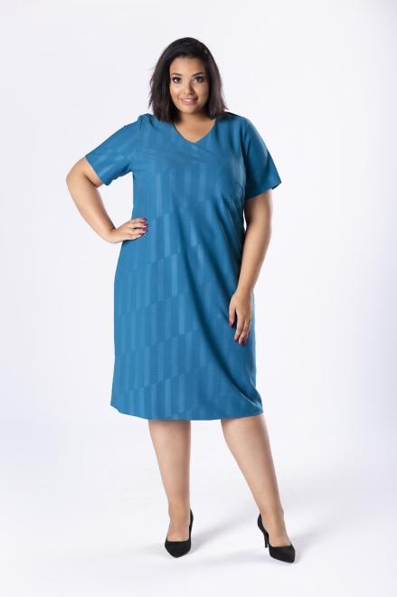 LOTO  dopasowana sukienka z delikatnym połyskiem M80569 Платья +Size Голубой оптом
