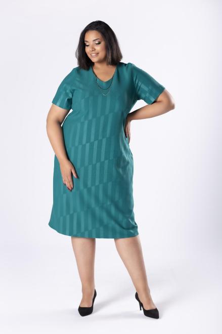 LOTO  dopasowana sukienka z delikatnym połyskiem M80569 Платья +Size Зеленый оптом