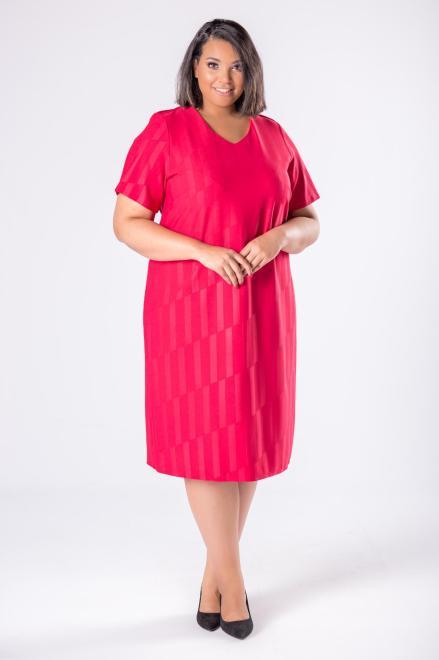 LOTO  dopasowana sukienka z delikatnym połyskiem M80569 Платья +Size Красный оптом