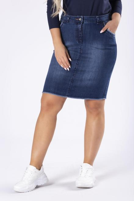 JUST JEANS  jeansowa spódnica o ołówkowym kroju M81601 Юбки +Size Темносиний оптом