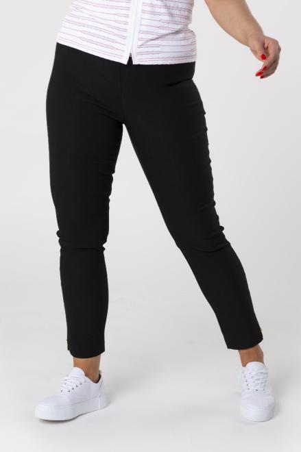 DOMINO STYL  spodnie cygaretki z gumką w pasie M74645 Брюки +Size Черный оптом