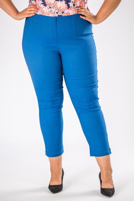 DOMINO STYL  spodnie cygaretki z gumką w pasie M74645 Брюки +Size Голубой оптом