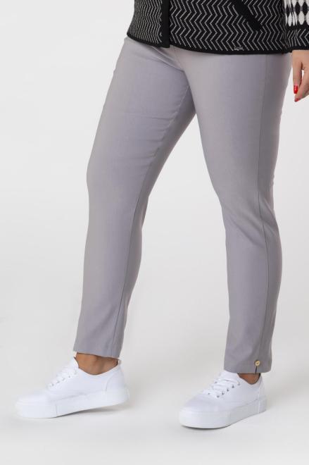 DOMINO STYL  spodnie cygaretki z gumką w pasie M74645 Брюки +Size Серый оптом