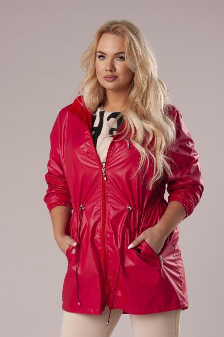 HOLI  przeciwdeszczowa kurtka z kapturem M78860 Куртка +Size красный оптом