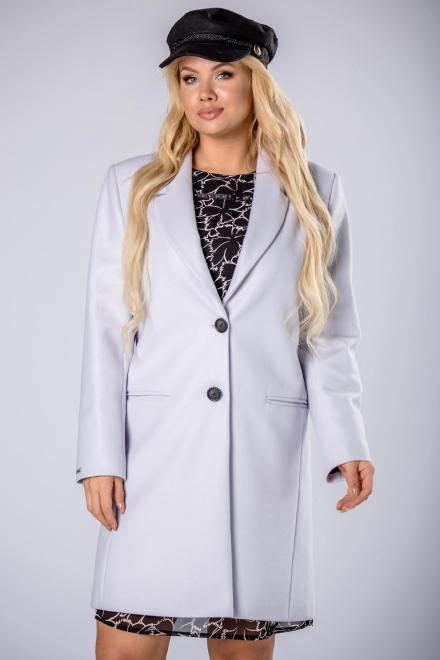 MODA DOROTHY  klasyczny płaszcz jednorzędowy M81923 Плащ +Size Голубой оптом