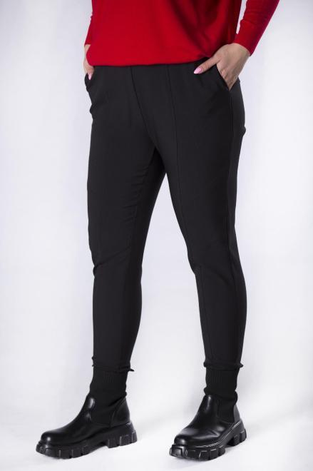 IZEE  dopasowane spodnie z gumką w pasie M82638 Брюки +Size Черный оптом
