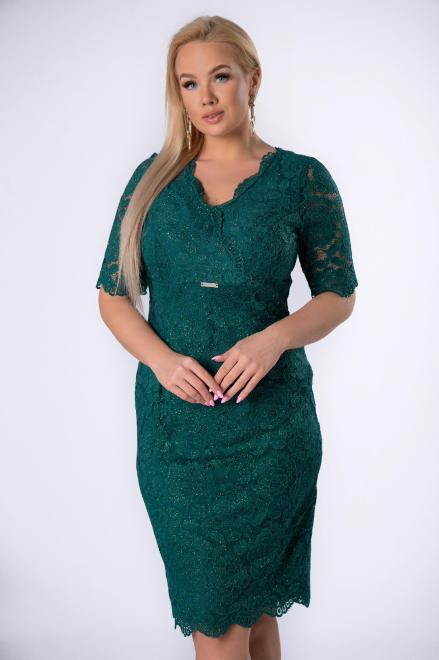 TRYNITE  koronkowa sukienka z brokatowym wykończeniem M82201 Платья +Size Зеленый оптом