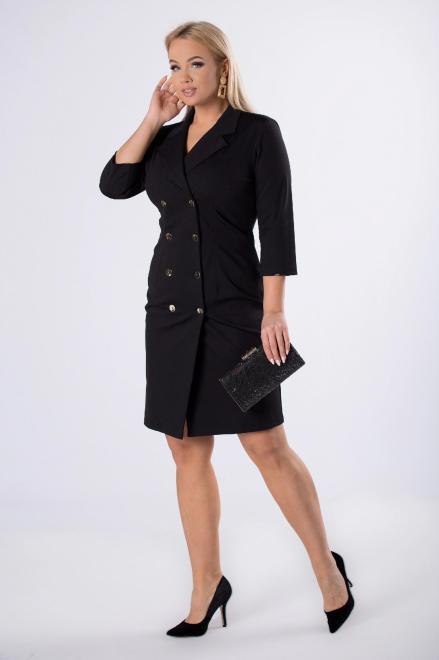 TRYNITE  taliowana sukienka o żakietowym kroju M82266 Платья +Size Черный оптом