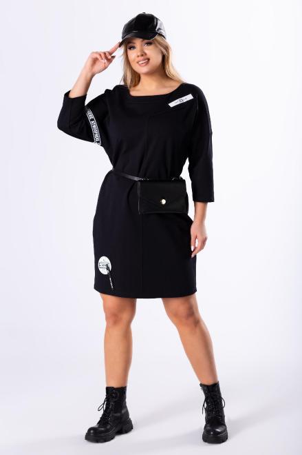 TRYNITE  dzianinowa sukienka z suwakiem na plecach M82796 Платья +Size Черный оптом