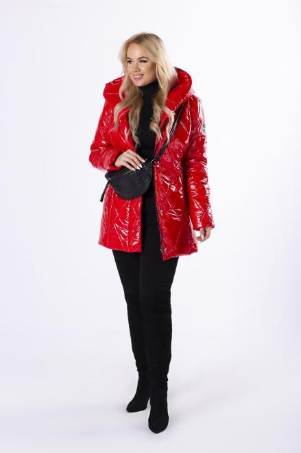 RG  pikowana kurtka z kapturem M82959 Куртка +Size Красный оптом