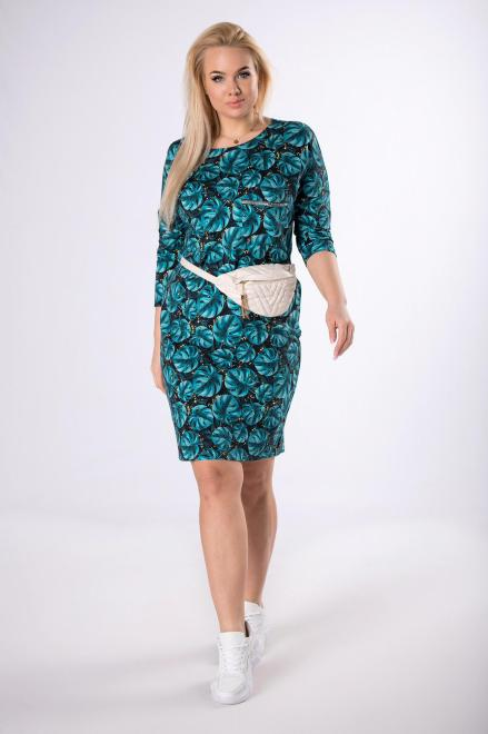 MADAM TRIS  dzianinowa sukienka z kieszonką na piersi  M83092 Платья +Size Multikolor оптом