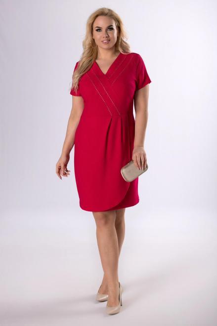 MODUSS  taliowana sukienka z dżetami  M83095 Платья +Size Розовый оптом