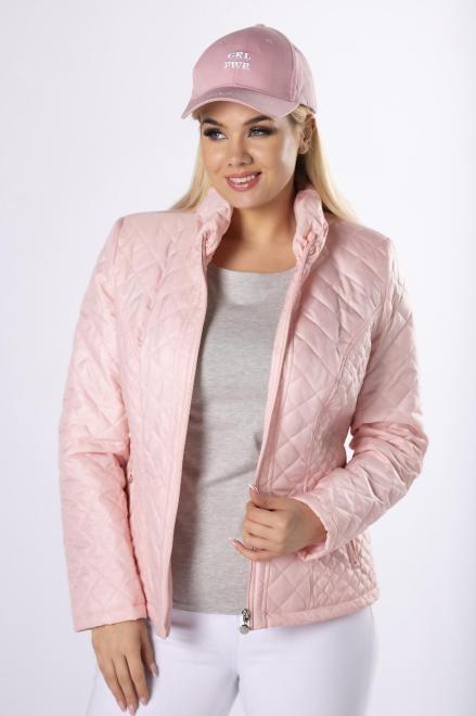 HOLI  casualowa kurtka z pikowaniem  M83322 Куртка +Size Розовый оптом