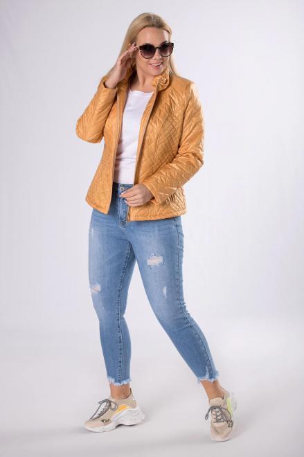 HOLI  casualowa kurtka z pikowaniem  M83322 Куртка +Size Желтый оптом