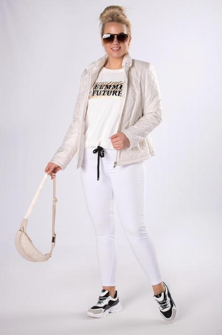 HOLI  casualowa kurtka z pikowaniem  M83322 Куртка +Size Белый оптом