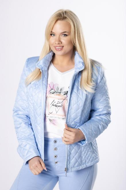 HOLI  casualowa kurtka z pikowaniem  M83322 Куртка +Size Голубой оптом