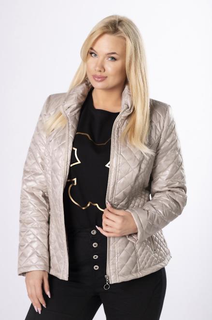 HOLI  casualowa kurtka z pikowaniem  M83322 Куртка +Size Бежевый оптом