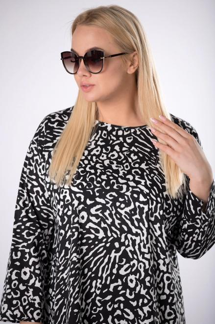 Rivabella  wzorzysta sukienka oversize M83444 Платья +Size Multikolor оптом