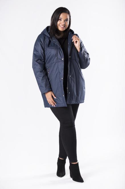 MIDAN II  kurtka parka z kapturem M81117 Куртка +Size Темносиний оптом