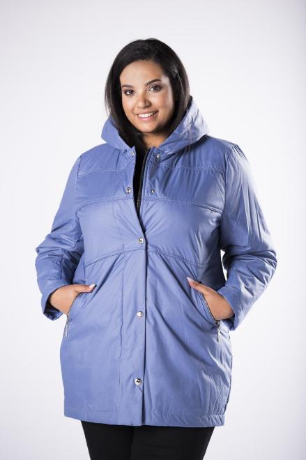 MIDAN II  kurtka parka z kapturem M81117 Куртка +Size Голубой оптом