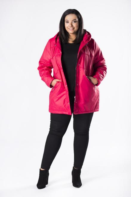 MIDAN II  kurtka parka z kapturem M81117 Куртка +Size Красный оптом