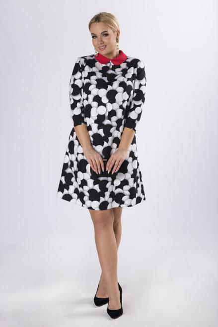 MODA DOROTHY  wzorzysta sukienka z kołnierzykiem  M83339 Платья +Size Multikolor оптом