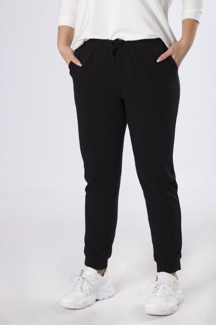NO STRESS  dresowe spodnie ze ściągaczem  M83352 Трикотажные брюки Черный оптом
