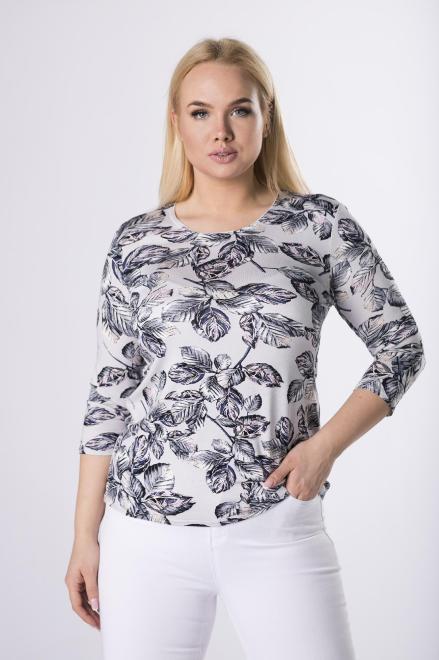AGA  wzorzysta bluzka z rękawem 3/4 M83469 Блузки +Size Multikolor оптом