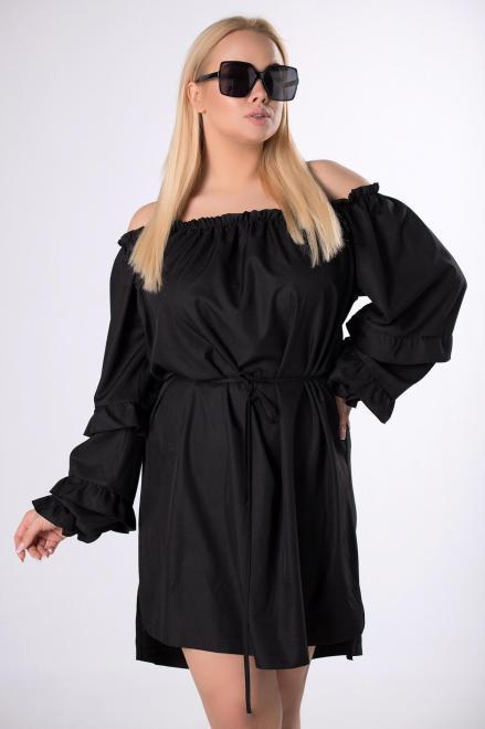 IZEE  sukienka z dekoltem carmen M83408 Платья +Size Черный оптом