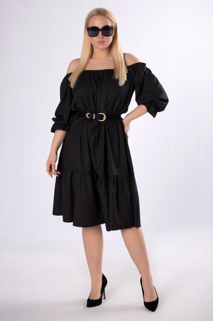 IZEE  sukienka z dekoltem carmen M83465 Платья +Size Черный оптом
