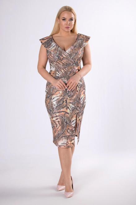 MODUSS  połyskująca sukienka z zakładkami M83100 Платья +Size Multikolor оптом