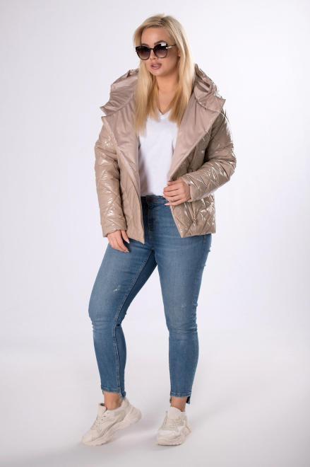 MODUSS  foliowana kurtka z kapturem M83563 Куртка +Size Бежевый оптом