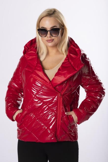 MODUSS  foliowana kurtka z kapturem M83563 Куртка +Size Красный оптом