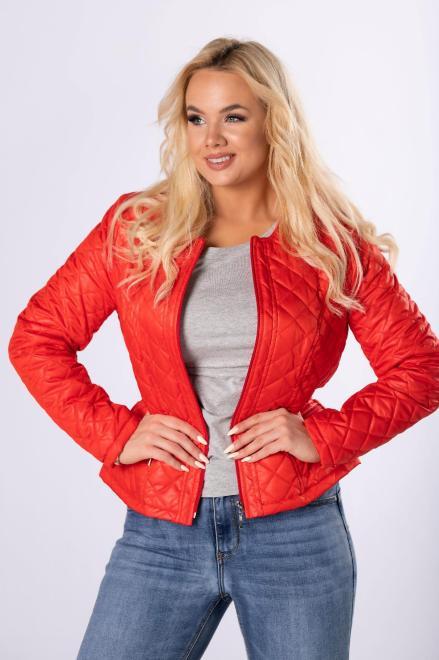 HOLI  taliowana kurtka z pikowaniem  M79176 Куртка +Size Красный оптом