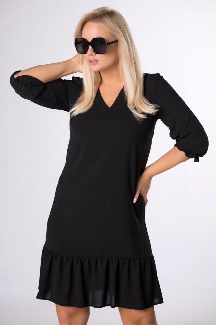 BRENDA  trapezowa sukienka z odcinanym dołem M83809 Платья +Size Черный оптом