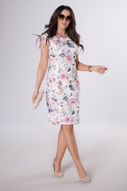 M&M  klasyczna sukienka w kwiatowy wzór M84042 Платья +Size Multikolor оптом