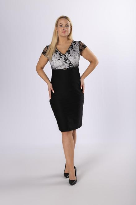 TRYNITE  ołówkowa sukienka z koronkową górą M83723 Платья +Size Черный оптом