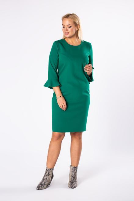 BRENDA  dopasowana sukienka z rozszerzanymi rękawami M81501 Платья +Size Зеленый оптом