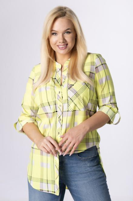 SANDRA  koszula z printem M84124 +Size Желтый оптом