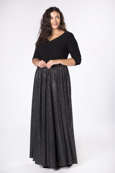 IZEE  wieczorowa sukienka maxi  M75870 Платья +Size Черный оптом