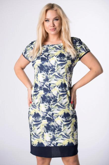 BRENDA  sukienka z krótkim rękawem M84183 Платья +Size Multikolor оптом