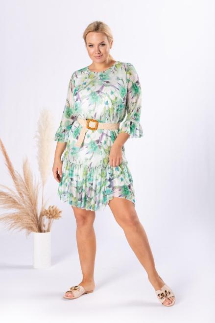 BRENDA  sukienka z siatki z printem M84561 Платья +Size Multikolor оптом
