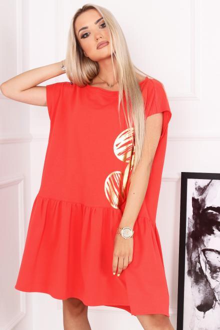 Alekssandra  Sukienka MIKI  Платье Оранжевый оптом