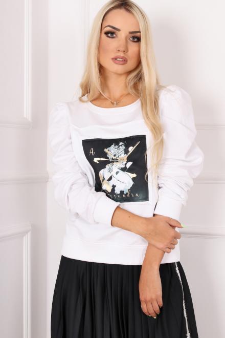 Alekssandra  SMART Блузка белый оптом