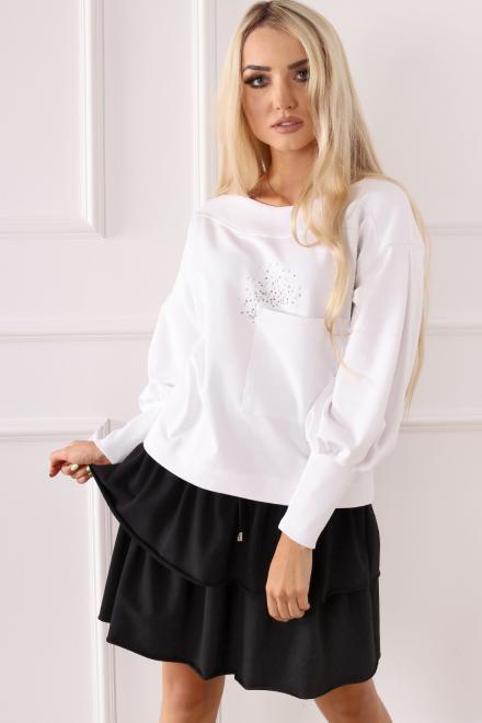 Alekssandra  Bluza DORA Блуза Белый оптом